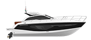C38 - CRUISER LINE BLACK (gelcoat)