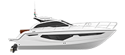 C38 - CRUISER LINE WHITE (gelcoat)