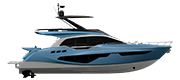 FLYBRIDGE LINE FLY68 GULLWING AIR BLUE METALLIZED (paint)