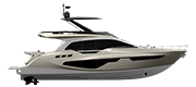 FLYBRIDGE LINE FLY68 GULLWING SILVER METALLIZED (paint)